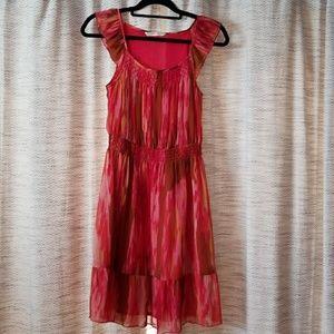 5/$25 Old Navy Boho Dress Pink Multi Size Small